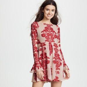 For Love & Lemons Temecula Wine Mini Dress NWT